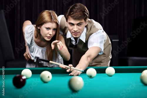 Fotografie, Tablou  The billiards