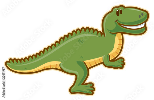 Photo  T-rex. Vector without gradients