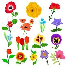 Vector Collection Of Beautiful Garden