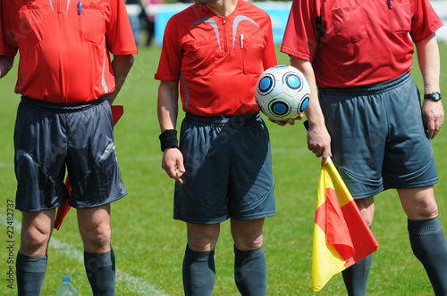 Photo les arbitres