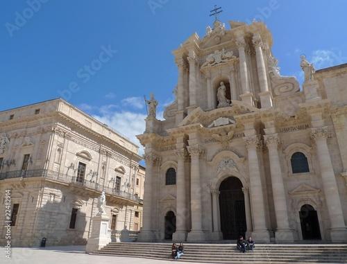 Piazza del Duomo Siracusa Sicilia Italia Fototapete