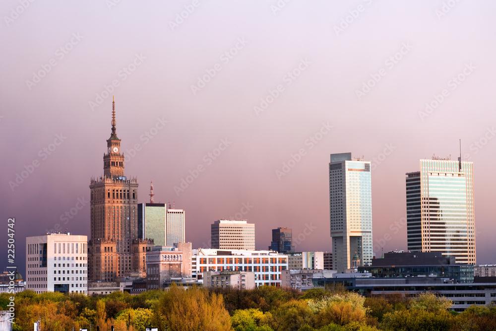 Fototapety, obrazy: The City of Warsaw
