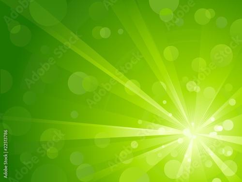 Obraz Green light burst with shiny light dots and copy space - fototapety do salonu