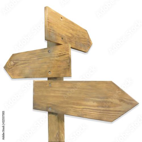 Fotografía  panneaux en bois de direction ombrés