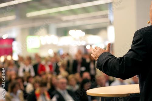 Fotografie, Tablou orator in public
