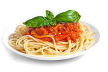Pasta Tomato With Basil On The...
