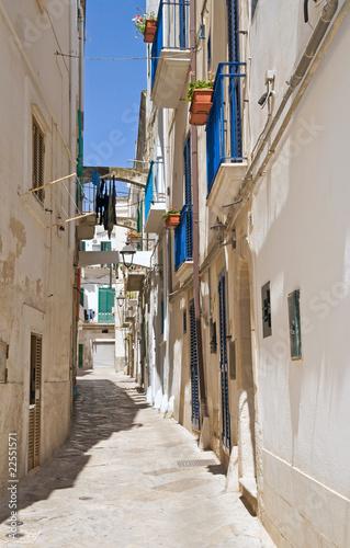Alleyway in Monopoli Oldtown Apulia