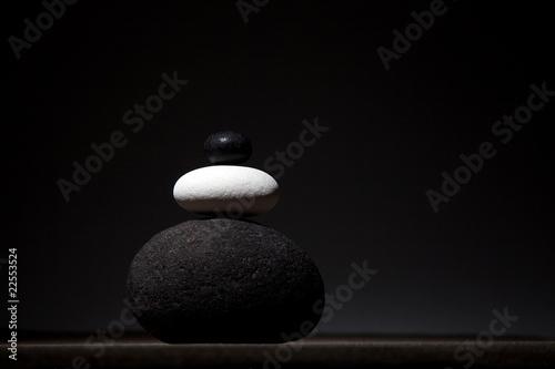 Photo sur Plexiglas Zen pierres a sable Ambiance zen - pierre et sable