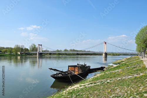 Fotografia, Obraz  Pont suspendu de Cosne-Cours-sur-Loire (58)