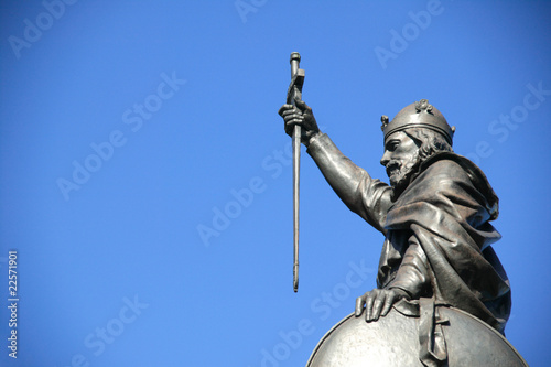 Canvas Print King Alfred The Great statue,Winchester