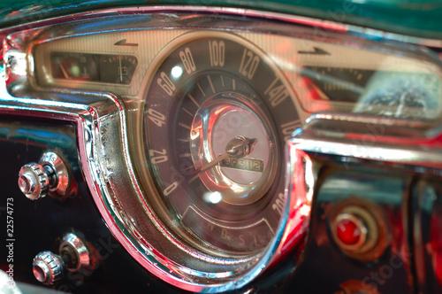 фотография  Vintage car interior deck in havana, cuba.