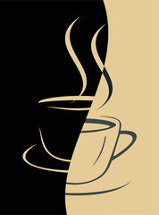 Fototapeta Do cukierni Coffee cup - vector image