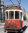 Lisbonne, tram rouge