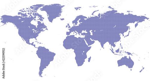 Tuinposter Wereldkaart map world