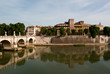 View across the Tiber River in Rome