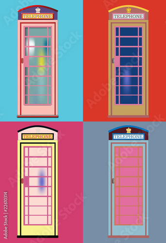 Phone booth vector andy_2 Fototapeta