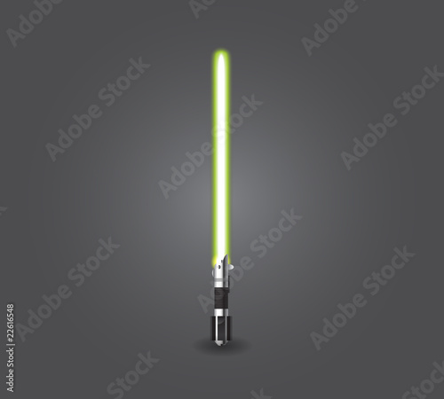 Green lightsaber Wallpaper Mural