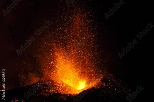Fotografiet Eyjafjallajökull vulcano eruption