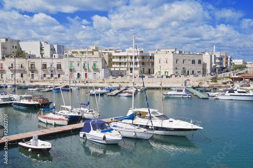 Photo Stands Europa Giovinazzo touristic port. Apulia.