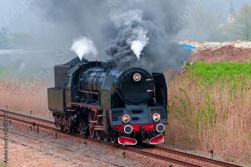 Garden Poster Bestsellers Old steam locomotive