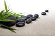 Ambiance zen - pierres noires et bambou