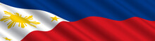 Philippines Flag In The Wind