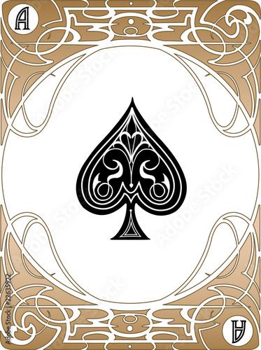 Spade Ace Card плакат