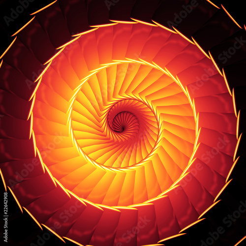 Papiers peints Spirale Feuer Reinkarnation - Orange Rot