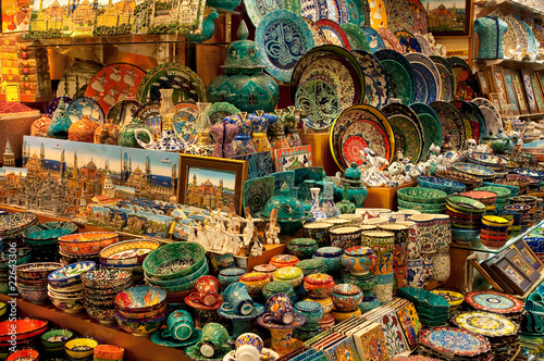 Photo Shop selling porcelain on the Grand Bazaar