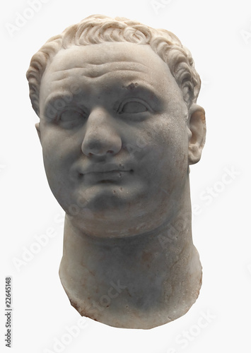 Ancient marble bust of the roman emperor Titus Canvas Print