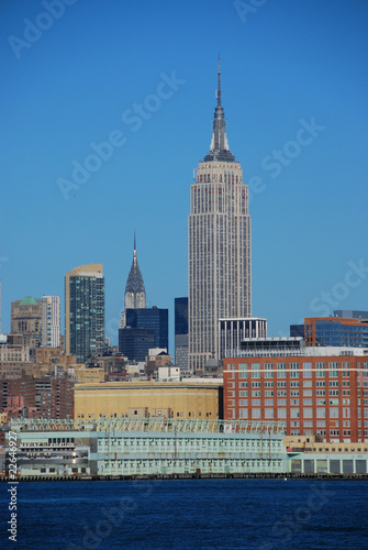 Photo  Empire State and Chrysler Building