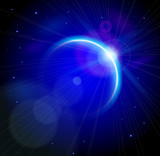 Blue Planet & Rising Sun