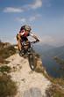 Mountain Biker am Gardasee