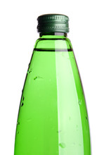 Water In A Green Glass Bottle