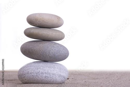 Photo sur Plexiglas Zen pierres a sable sand stones