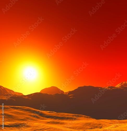 Foto op Aluminium Bergen Sonne in Afrika
