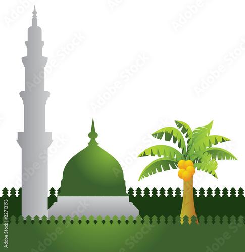 Foto op Plexiglas Groene mosque