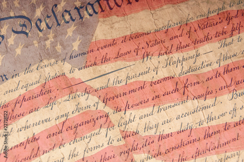 Declaration of Independence Close Up Fototapet