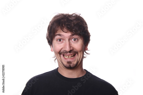 Fototapety, obrazy: young casual man portrait in a white background
