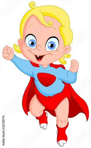 Staande foto Superheroes Superbaby