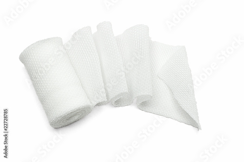 White medical gauze bandage Fototapet
