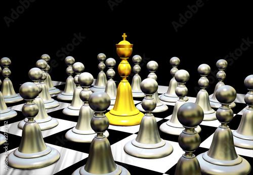 3d Scacchiera con Scacchi-Chessboard with Checkers