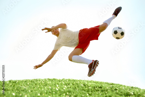 Fotobehang Voetbal Skilled player