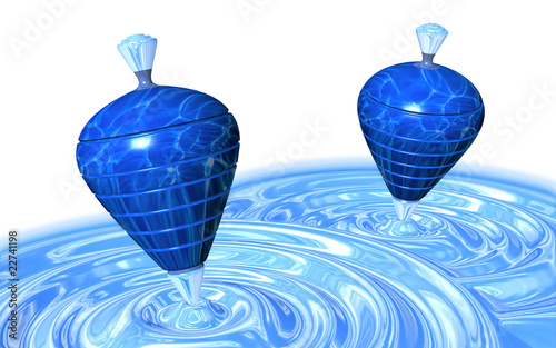 Trottola in Acqua-Water Tops Background