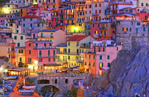 Fotobehang Zalm Manarola, Cinque Terre, Italy