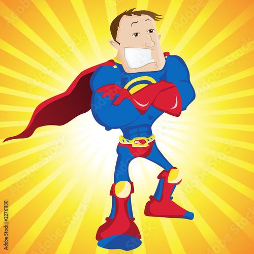 Poster Superheroes Super Man Hero Dad.