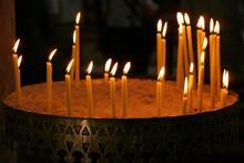 Candles In Greek Orthodox Church