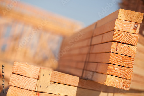 Foto Stack of Building Lumber