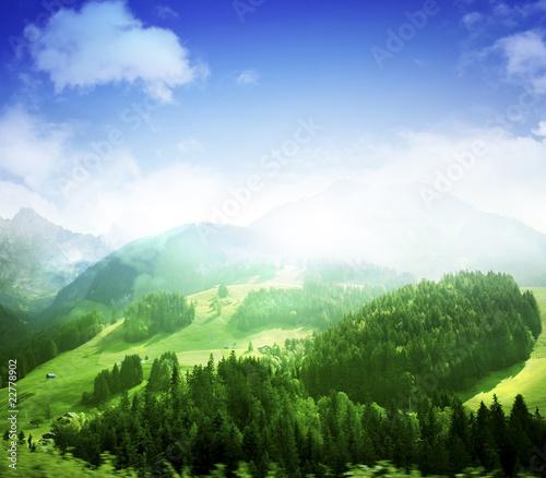 Foto op Canvas Bergen Mountains