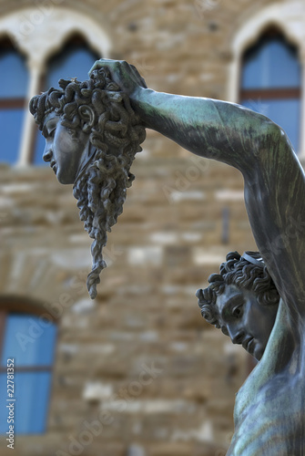 Fényképezés  Firenze, loggia dei Lanzi, Perseo e la Medusa